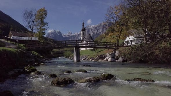 Thumbnail for View of Church in Ramsau, Berchtesgaden, Germany