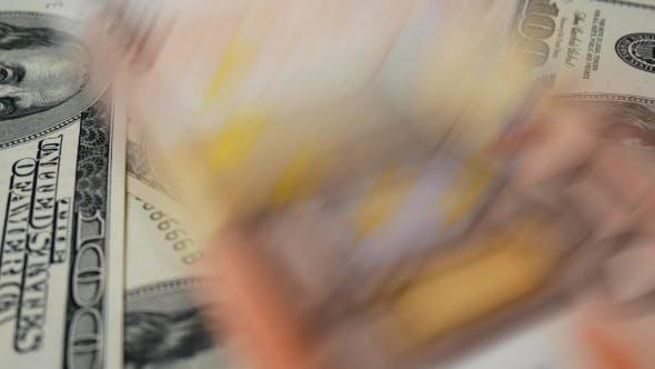 Thumbnail for Euro and Dollars Bills
