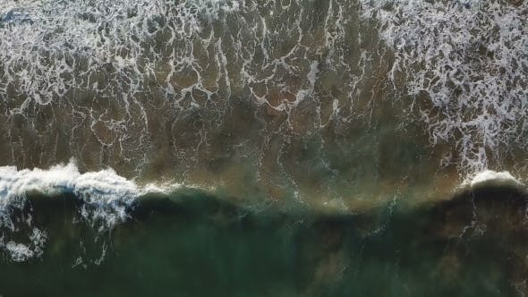 Thumbnail for View of the Sandy Beach From the Air. Spain, Valencia , Playa El Saler, Mediterranean Sea