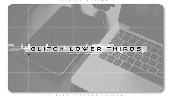 Thumbnail for Glitch Modern Lower Thirds