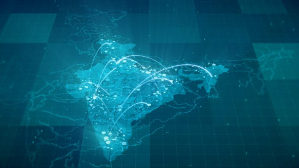 Thumbnail for Globalization India Map Animation HD