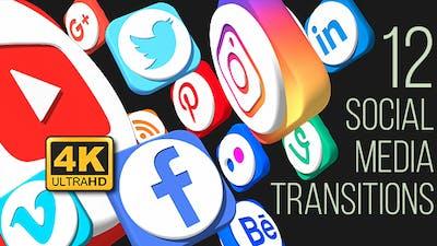 Social Media Social Media Transitions (4K)