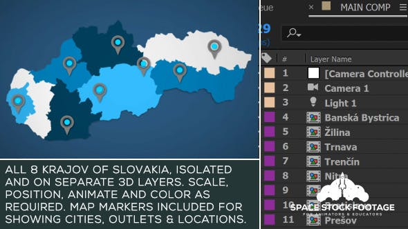 Slovakia Map Kit