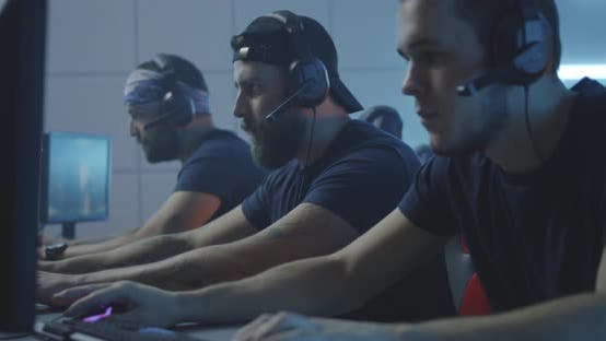 Thumbnail for Young Men Playing at a Gaming Tournament