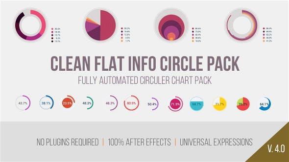 Clean Flat Info Circle Pack
