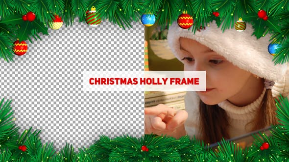 Thumbnail for Christmas Holly Frame