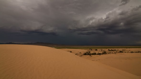 Thumbnail for Thunderstorm in the Desert. Dramatic Sky and Lightning