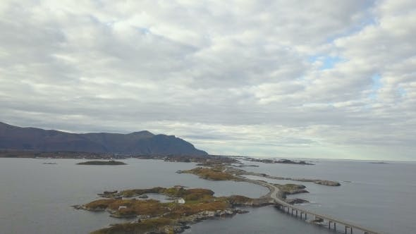 Thumbnail for Aerial Drone Shot of Stunning Atlantic Road in Norway