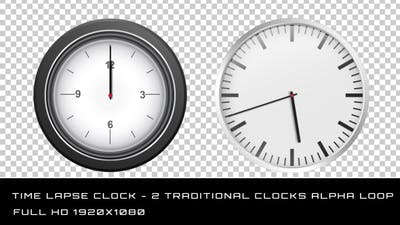 Time Lapse Clock - 2 Traditional Clocks
