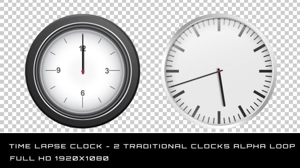 Time Lapse Clock - 2 Traditional Clocks
