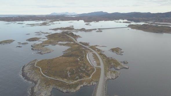 Thumbnail for Luftaufnahme Drohne nenaufnahme der atemberaubenden Atlantikstraße in Norwegen
