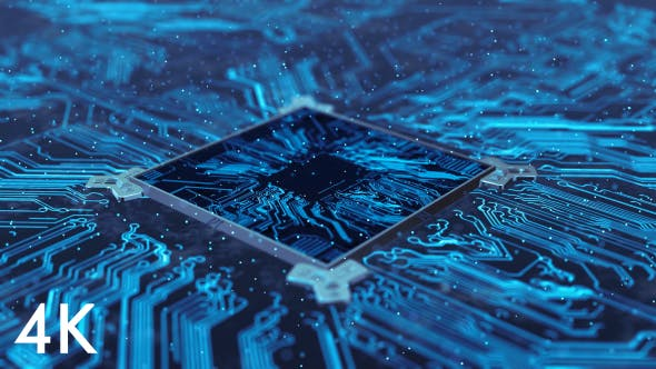 Cover Image for Computer Chip Of Central Processing Unit Network Technology 4K