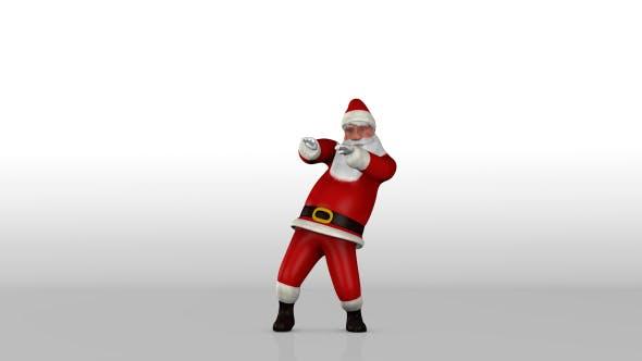 Thumbnail for Dancing Santa Claus Bright Background