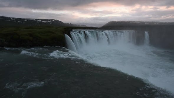 Thumbnail for Godafoss Waterfall on Skjalfandafljot River