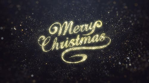 Gold Merry Christmas Greeting