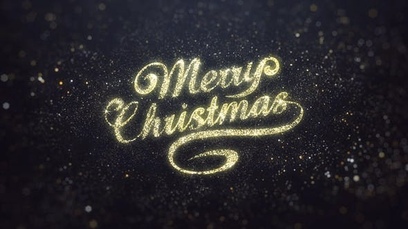 Thumbnail for Gold Merry Christmas Greeting