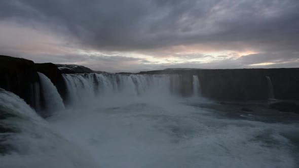 Cover Image for Godafoss Waterfall on Skjalfandafljot River