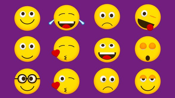 Thumbnail for Animated Emoji Pack (Pack of 12)