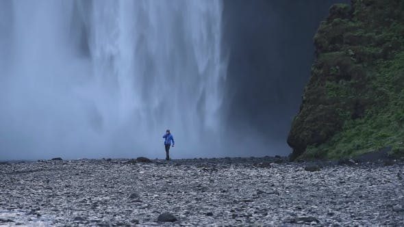 Thumbnail for Famous Skogafoss Waterfall