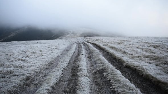 Cover Image for The Road in the High Mountains Covered with Hoarfrost