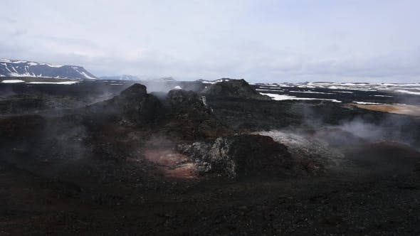 Thumbnail for Lavas Field in the Geothermal Valley Leirhnjukur