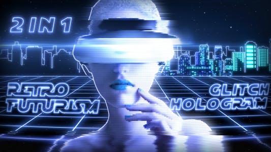 Retro Futurism & Glitch Hologram (2 in 1)