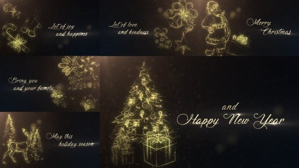 Thumbnail for Gold Christmas Wishes