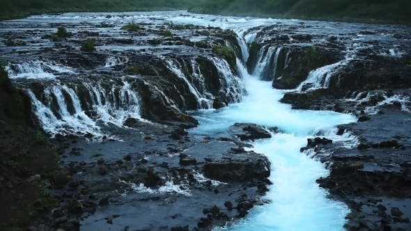 Thumbnail for Bruarfoss Waterfall in Summer Time