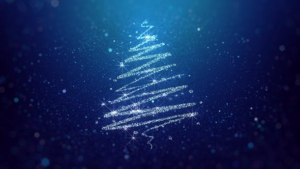 Thumbnail for Christmas Tree Blue Background