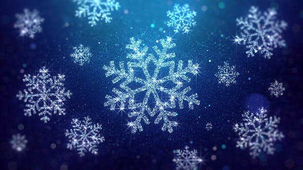 Thumbnail for Christmas Snowflakes Blue Background