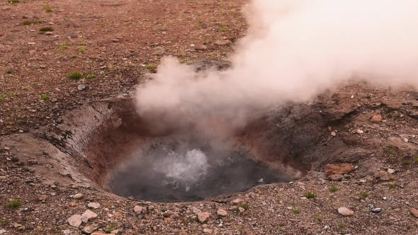 Cover Image for Smoking Fumaroles on Hverarond Valley