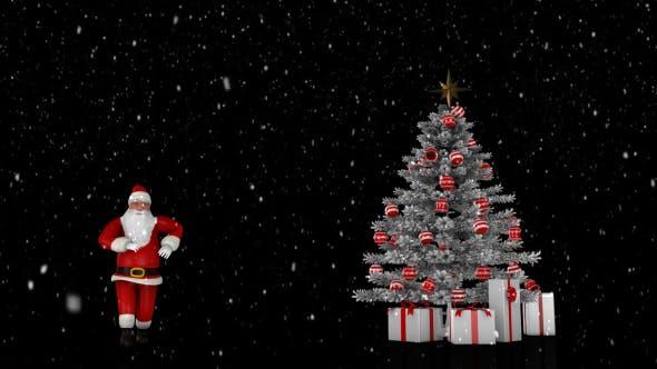 Thumbnail for Santa - Christmas and Snow Background