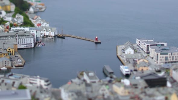Thumbnail for Aksla at the City of Alesund Tilt Shift Lens, Norway