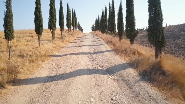On the Road of Val d'Orcia