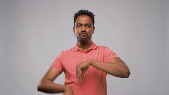 Thumbnail for Indian Man Making Faces and Different Gestures