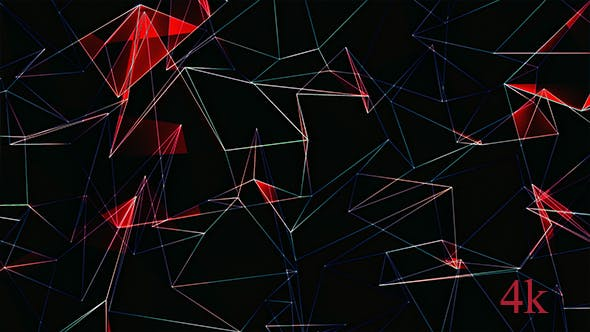 Thumbnail for Abstract Red Polygonal Background