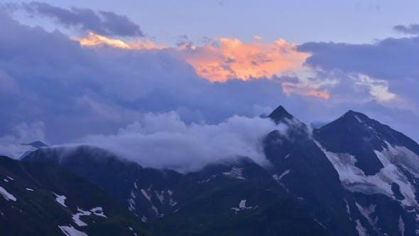 Cover Image for Beauty Sundown on Alpine Mountain