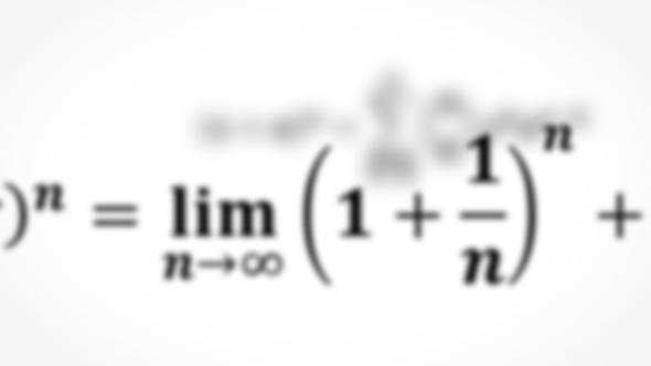Thumbnail for Math Equations Flying and Disappearing in Distance