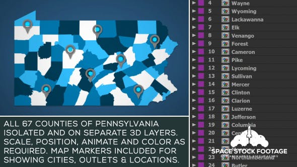 Pennsylvania Map Kit