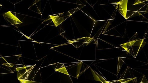Poligonal Yellow Background Abstract