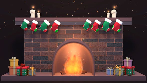 Thumbnail for Toon Christmas Fireplace
