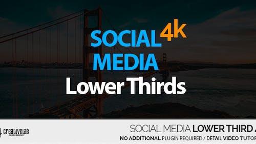 Social Media Lower Thirds 4K