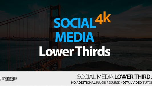 Thumbnail for Social Media Lower Thirds 4K