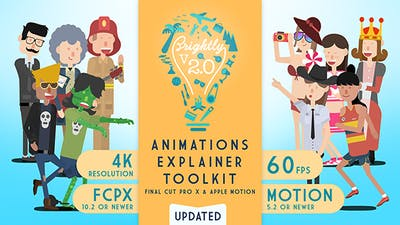 Brightly V2   Animations Explainer Toolkit - Final Cut Pro X & Apple Motion