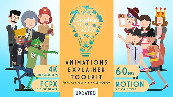 Thumbnail for Brightly | Animations Explainer Toolkit - Final Cut Pro X & Apple Motion