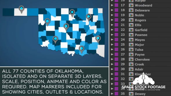 Thumbnail for Oklahoma Map Kit