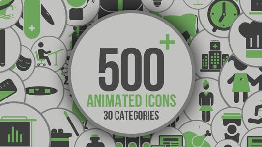 Thumbnail for Animated Icons 500+