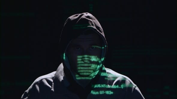 Thumbnail for Man Is Hacking a Website, He Was Given a Gun. Black Background