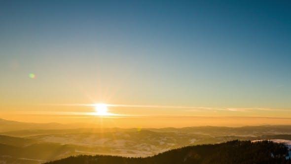 Thumbnail for Sundown  in Winter Mountain