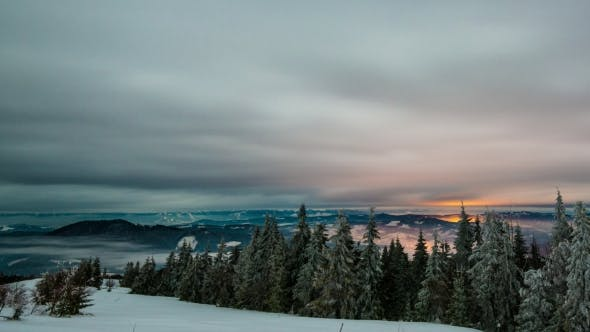 Thumbnail for View in Sundown Winter Mountain,